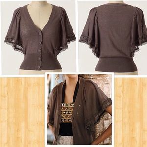 Anthropologie Whisked Away Cardigan by Moth S XS